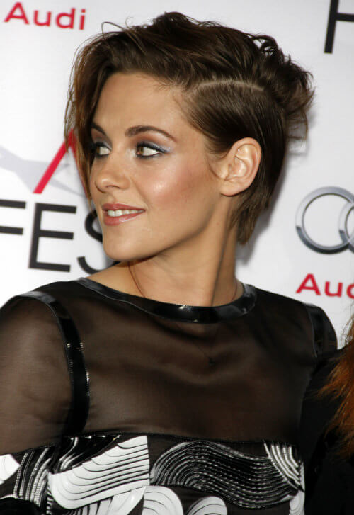 Kristen Stewart Short Haircut Side