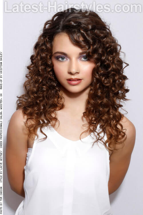 Long Naturally Curly Haircut Side