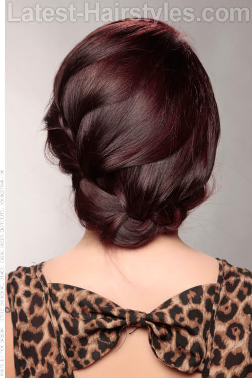Loose Braid Updo Back