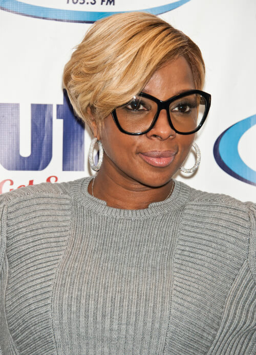 Mary J Blige Cute Crop