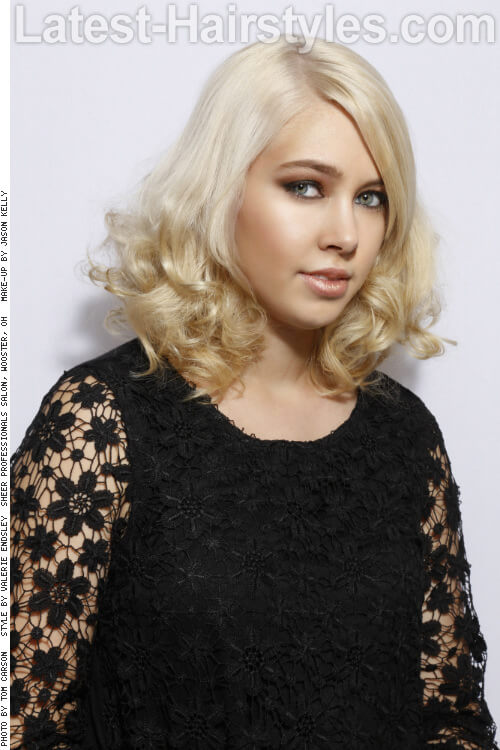 Medium Length Hairstyle for Long Faces Side