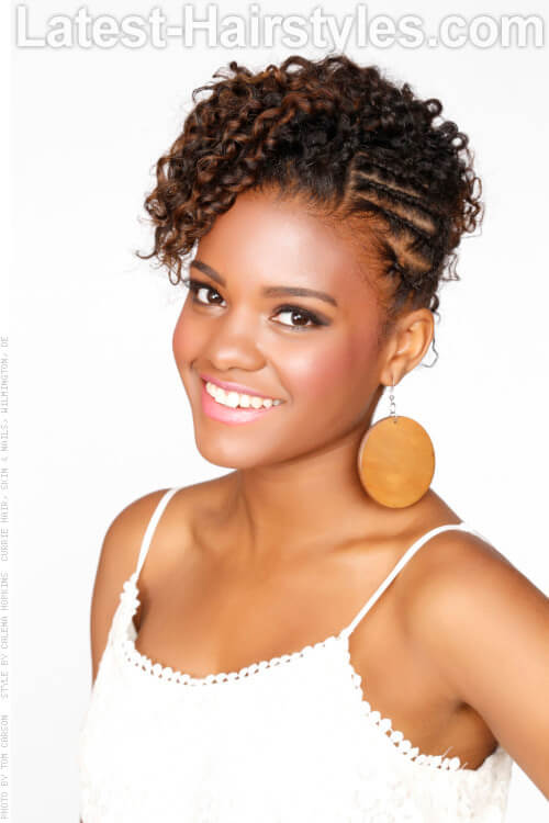 Enjoyable 20 Stunning Updos For Black Women And All Women Of Color Hairstyles For Women Draintrainus