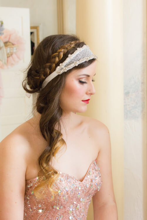 Half Halo Braid - Winter Wedding Hairstyles