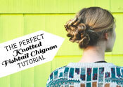 The Perfect Knotted Fishtail Chignon Tutorial