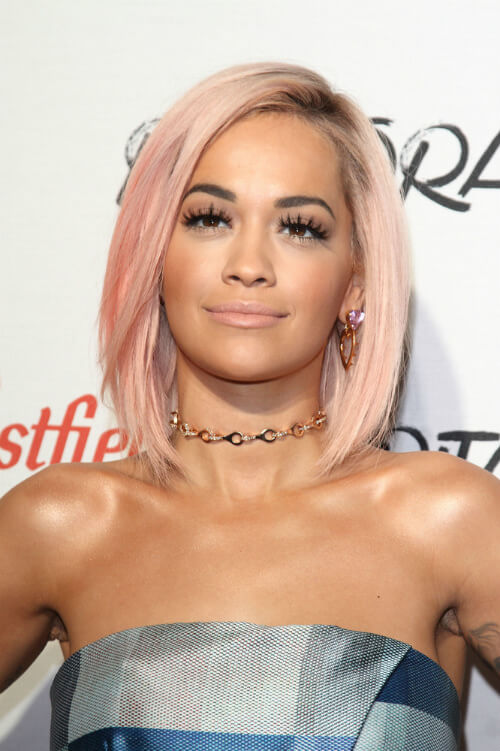 Rita Ora Bob with Color Front