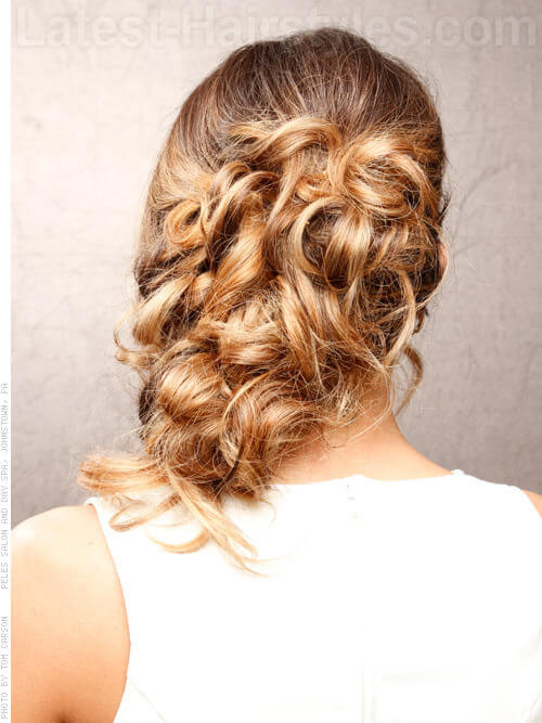 Sassy Side Loose Updo Back