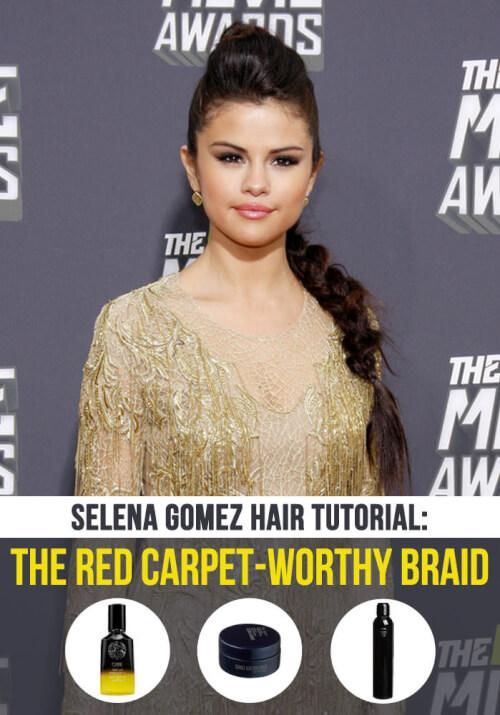 Selena Gomez Hair Tutorial - The Red Carpet Braid