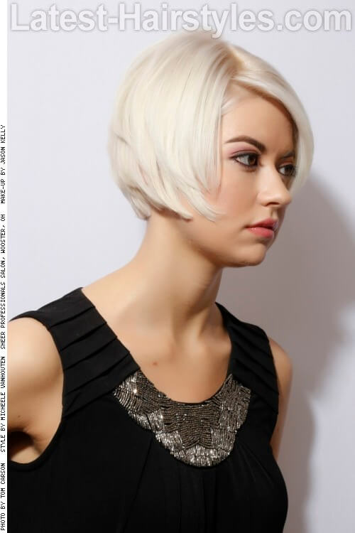 Short Hairstyle with Side Swept Fringe Side