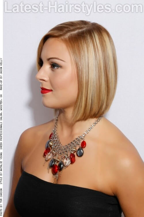 Sleek Bob for Long Faces Side