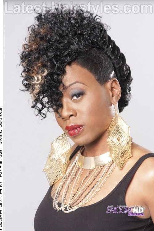 20 stunning updos for black women and all women of color the mohawk movement first edition urmus Choice Image