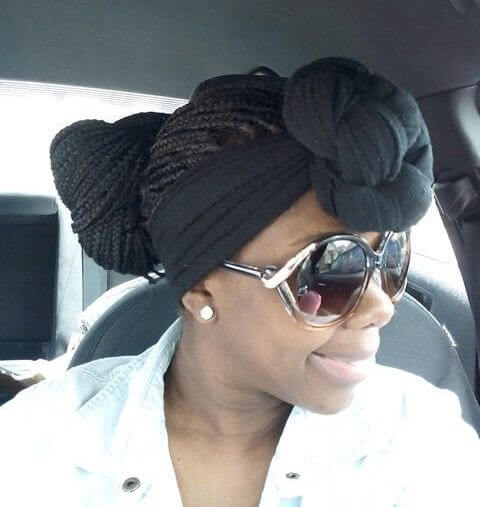 Turban With Low Bun