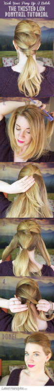 The Twisted Low Ponytail Tutorial