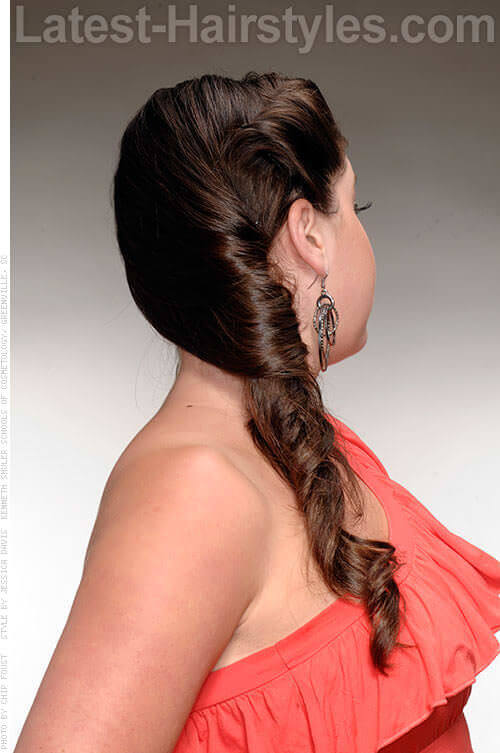Updo with Twists Side