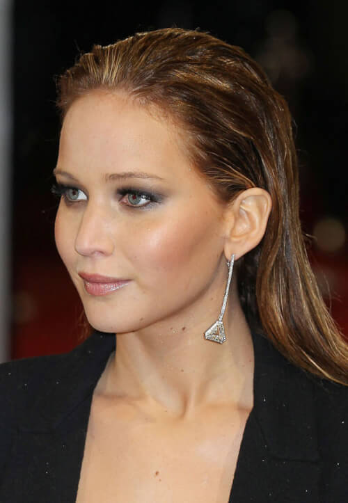 Jennifer Lawrence Sleek Hairstyle