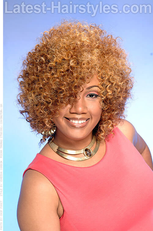 Afro Spiral Curls Hairstyle For Women Over 40