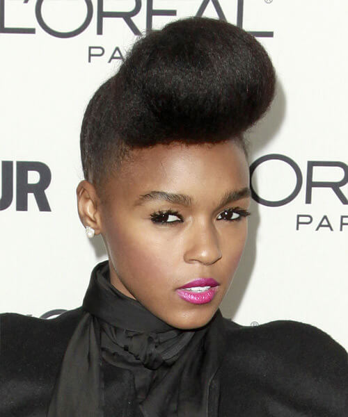 Janelle Monae Natural Pompadour Famous Hairstyle