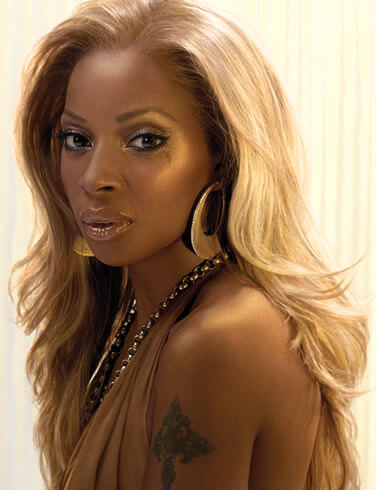 Mary J. Blige Blonde Bombshell