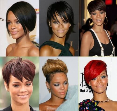 Rihanna Famous Hairstyle Chameleon 2