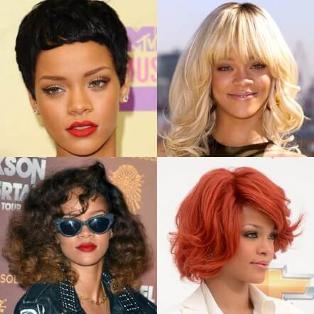Rihanna Famous Hairstyle Chameleon