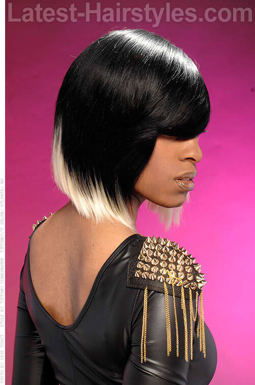 Straight Bob Side-Swept Hairstyle 2