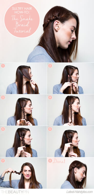 Snake Braid Hair Tutorial