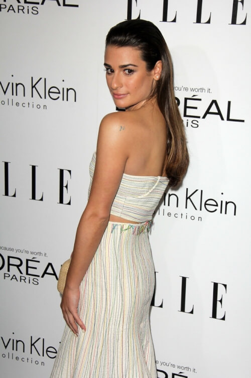 Lea Michele Sleek Hairstyle