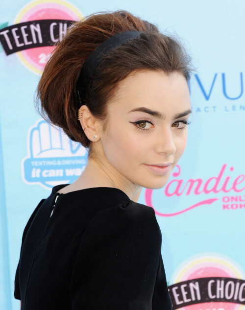 Lily Collins Bold Bouffant