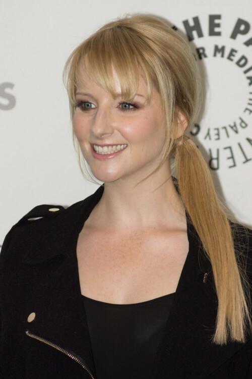 Melissa Rauch Side Ponytail
