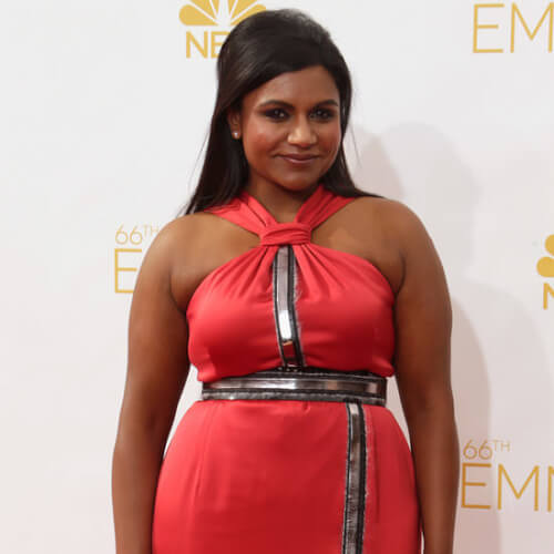 Mindy Kaling Voluminous Half Updo