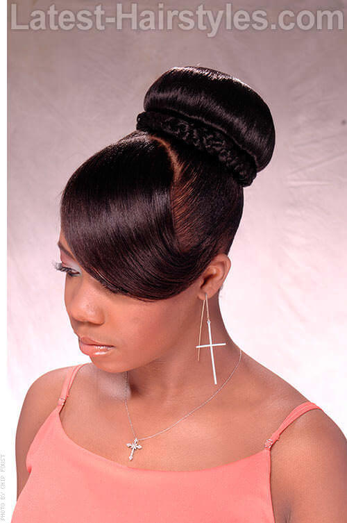 Elegant Braided Ballerina Bun Side