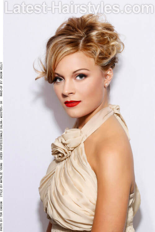 Formal Updo with Twists and Curls