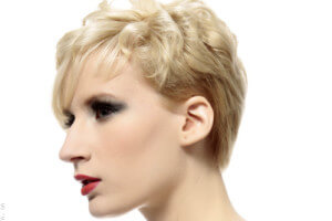 Fun Pixie Hairstyle with Long Fringe Side