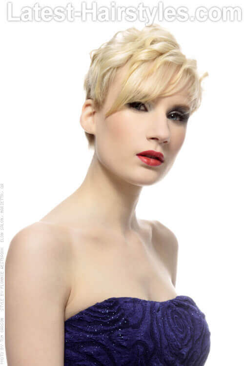 Fun Pixie Hairstyle with Long Fringe