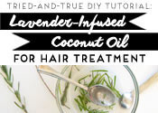 Lavender-Infused Coconut Oil for Hair Treatment