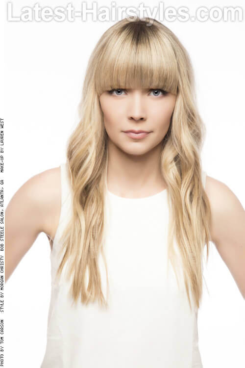 Long Hairstyle with Fringe for Thin Hair