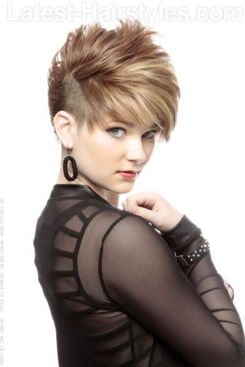 Short Haircut with Long Layers on Top Side
