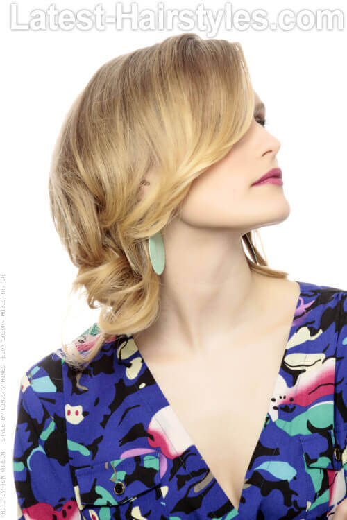 Short Hairstyle for Thin Hair with Layers Side