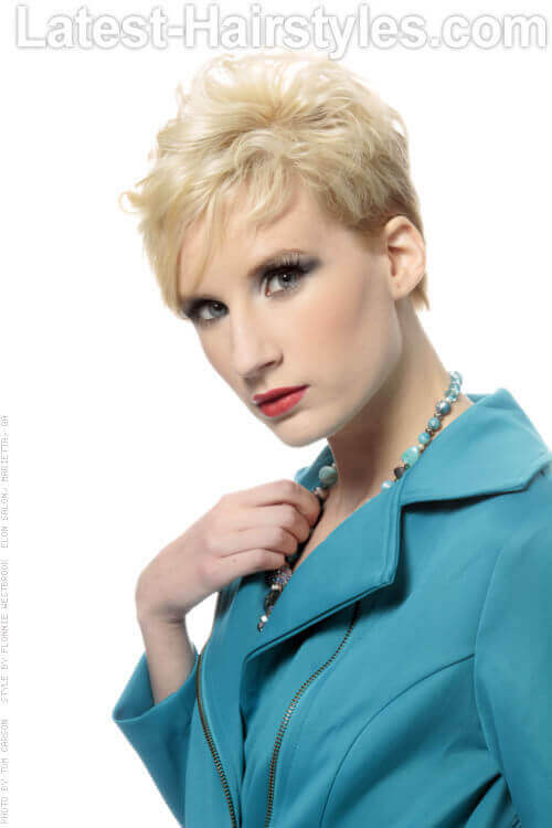Short Pixie Hairstyle for Thin Hair