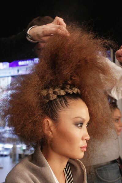 Afro Puffs & Braids High Fashion Hairstyles