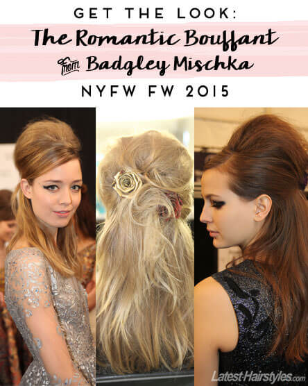 Get This Romantic Bouffant From Badgley Mischka NYFW FW 2015