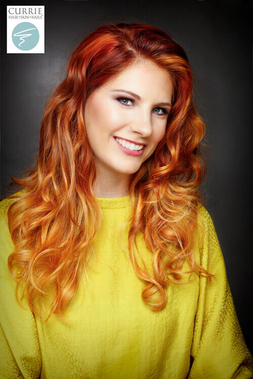 Bright Copper Ombre Hairstyle