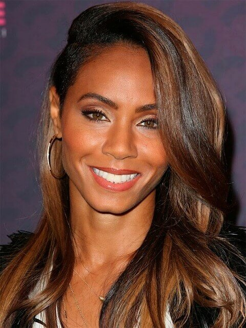 Jada Pinkett-Smith Brown Hair Highlights