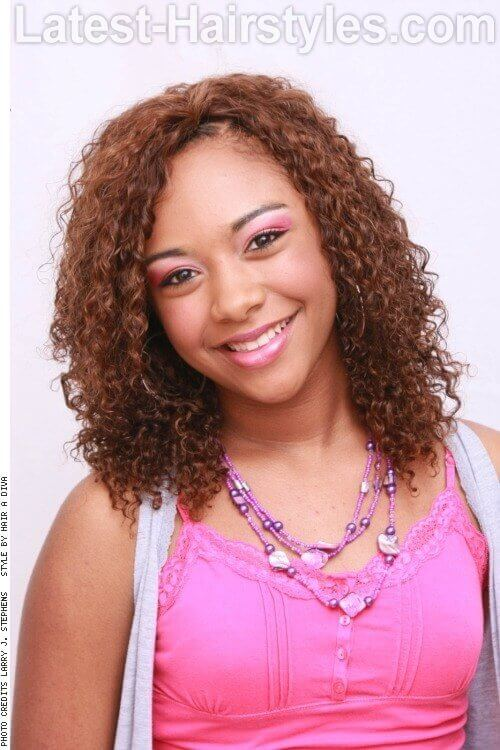 Curly Girl 1-Cute Hairstyles for Square Faces