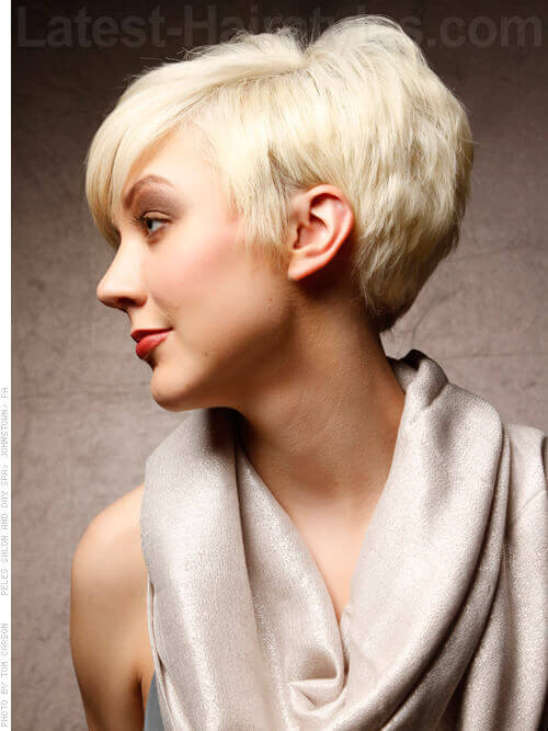 Dramatic Short Haircut for Women Side
