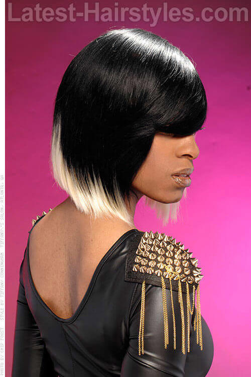 Dual Toned Bob Hairstyle Side