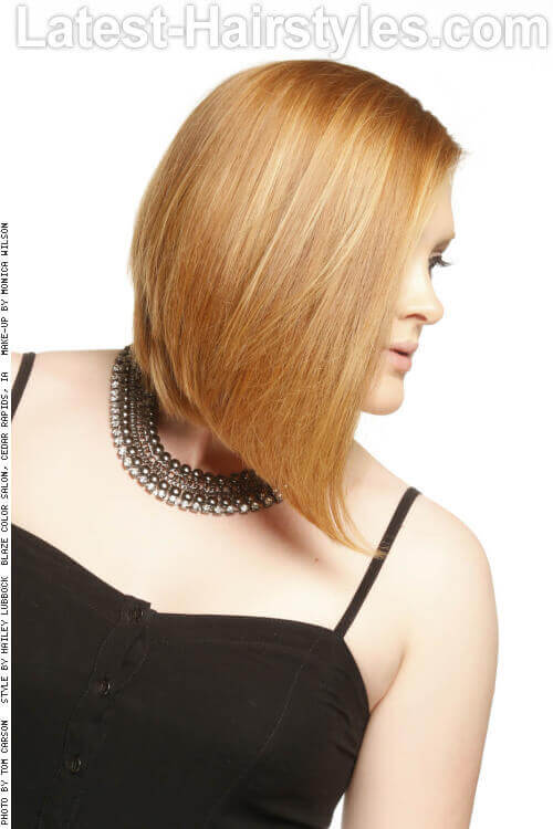 Long Bob Hairstyle for Straight Hair Side