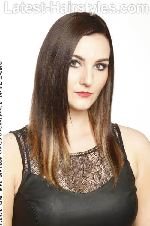 Medium Brown Ombre Hairstyle
