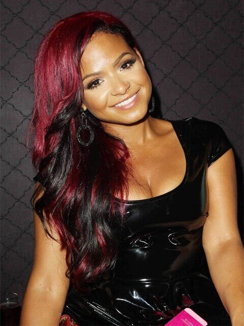 Christina Milian Red Highlights