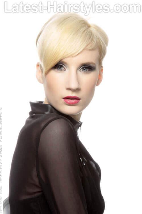 Sharp Short Soft Blonde Haircut