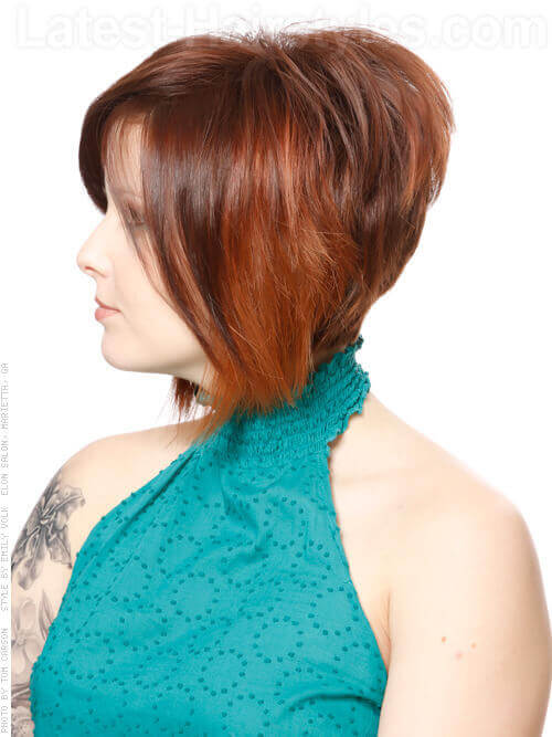 Short Graduated Bob Haircut Side